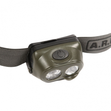 LAMPE FRONTALE 1W + 4 LED ARES